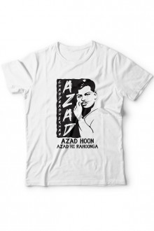 Aazad Hoon - Chandrashekhar Aazad Theme - Tshirt Buy Online in Gujarat, Ahmedabad, Rajkot, Surat, Vadodara