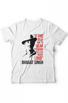 Bhagat Singh - Cotton Tshirt  From Deshidukan Buy online in Gujarat, Ahmedabad, Rajkot, Surat, Vadodara