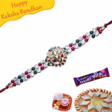 Ganesh Diamond Bracelet Rakhi