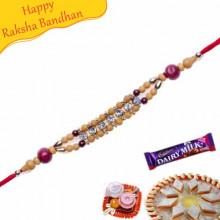 American Diamond Beads Bracelet Rakhi