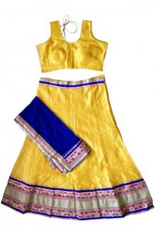 Exclusive Yellow Cotton Silk Navratri Chaniya Choli Buy Online India