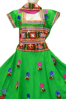 Amazing Green Colour Chaniya Choli for Navratri 2017 buy online