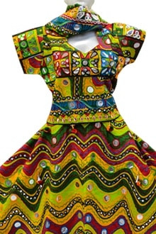 Traditional Multi Colour Channiya Choli for Navratri 2017 buy online