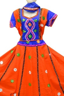 Outstanding Orange Colour Chaniya Choli for Navratri 2017 buy online