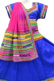 Amazing Blue Colour Chaniya Choli for navratri 2017 buy online