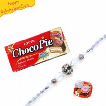 168 gm Lotte Choco Pie-Chocolate Pie With Rakhi