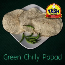 Green Chilli Papad  5 Kg Buy online best Gujarati Farsan