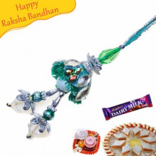 Diamond Beads Lumba Rakhi