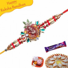 Ganesha Diamond Beads Rakhi