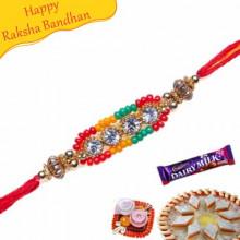 Diamond beads Pearl rakhi