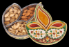 Diya / Dipak Shaped Minakari Decorative Dryfruit cum Mukhwas Box