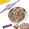 Swastik Design Rakhi Thali Buy Online