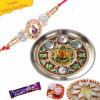 Gnesha Diamond with Rakhi Thali buy Online