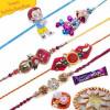 American Diamonds, Om , lumba Five Pieces Rakhi Set