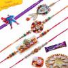 Kids and Traditional Lumba Five Pieces Rakhi Set