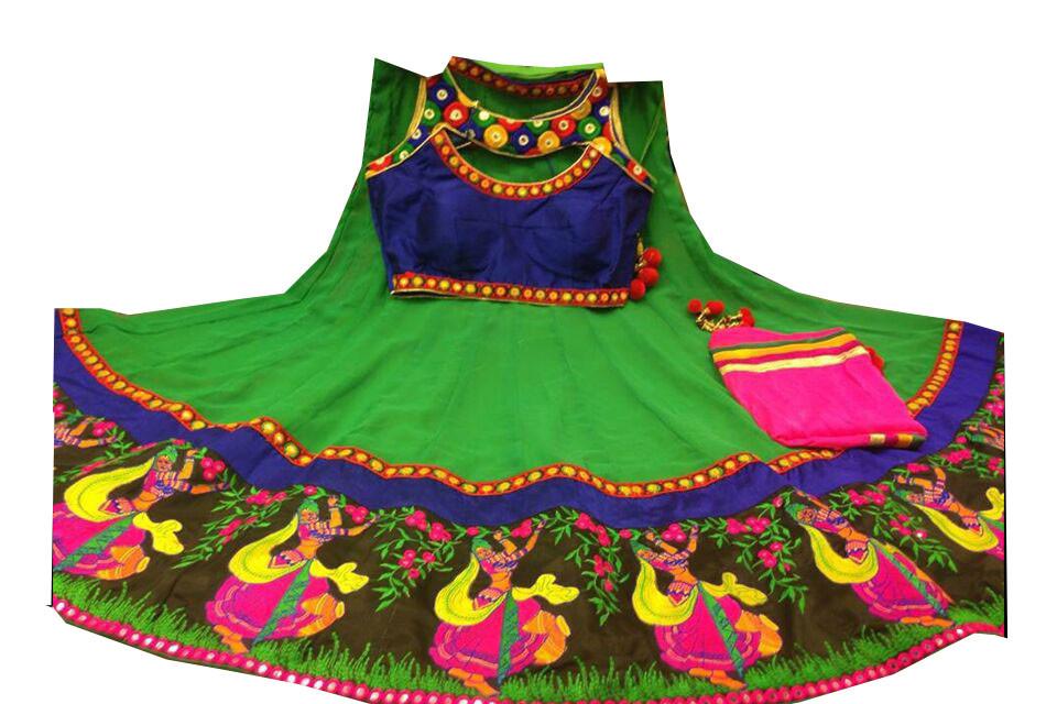 Marvelous Parrot Green Navratri Chaniya Choli Buy Online