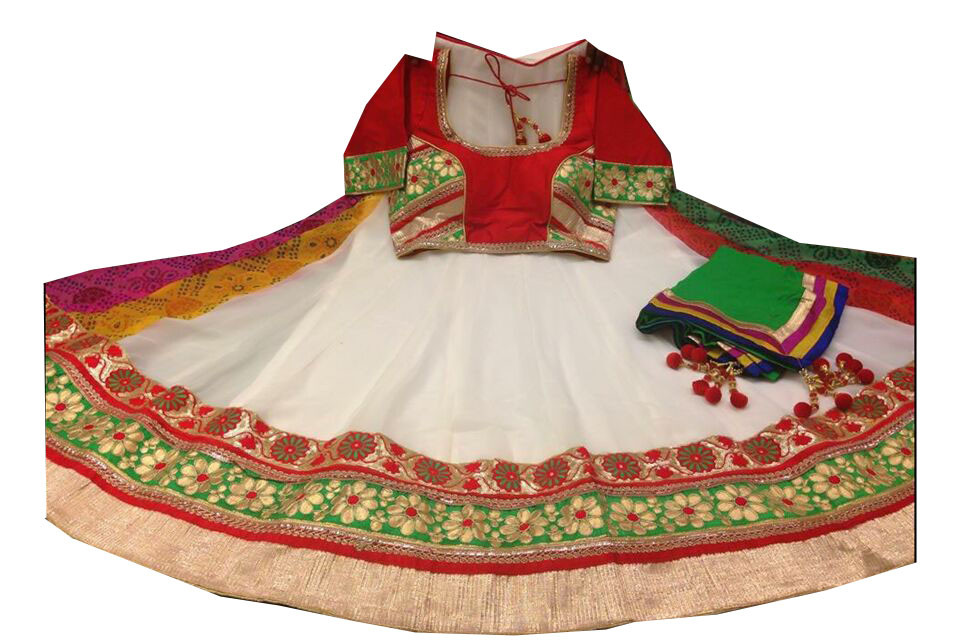 Classy Off White Navratri Chaniya Choli Buy Online India