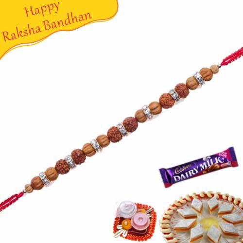 Buy Rudraksh Thread Bracelet Rakhi Online On Rakshabandhan