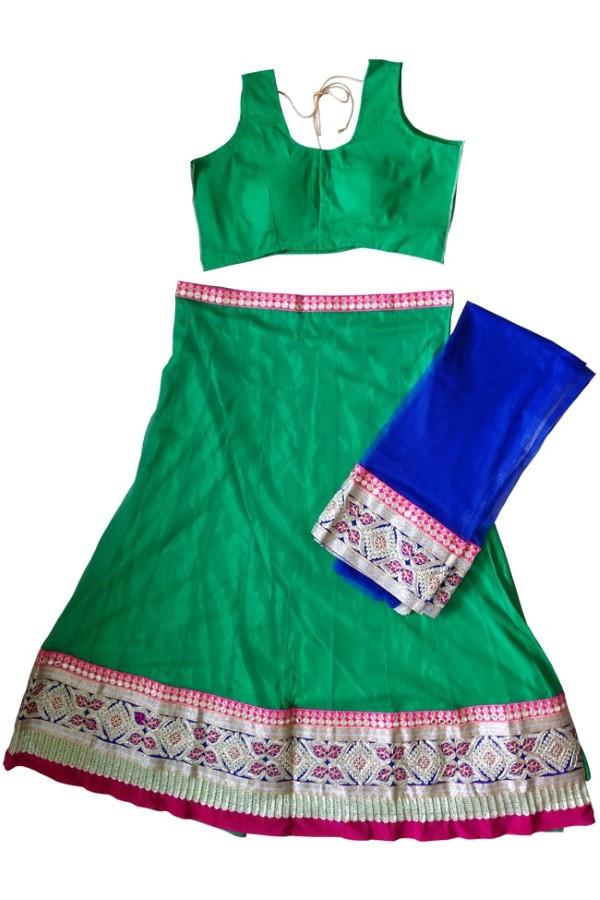 Green Navratri Chaniya Choli Buy Online For India Us Uk