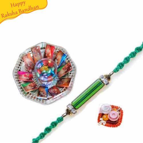 Buy Basket Of Chocolates With Rakhi Online On