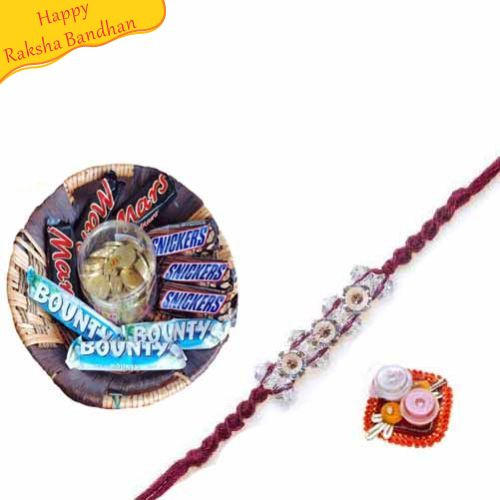 Buy Mouth Watering Hamper With Rakhi Online On