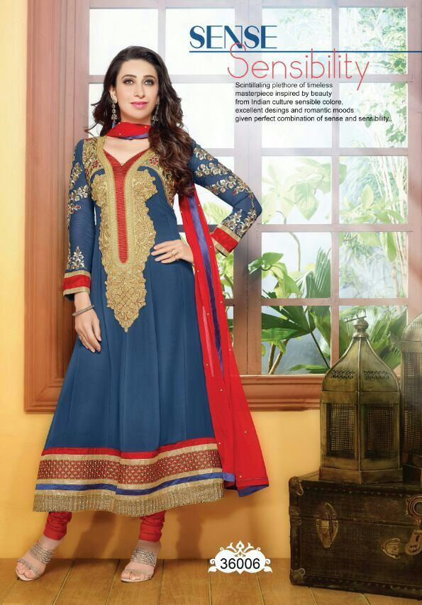 Liberty Blue Ethnic Casual Wear Salwar Suits E