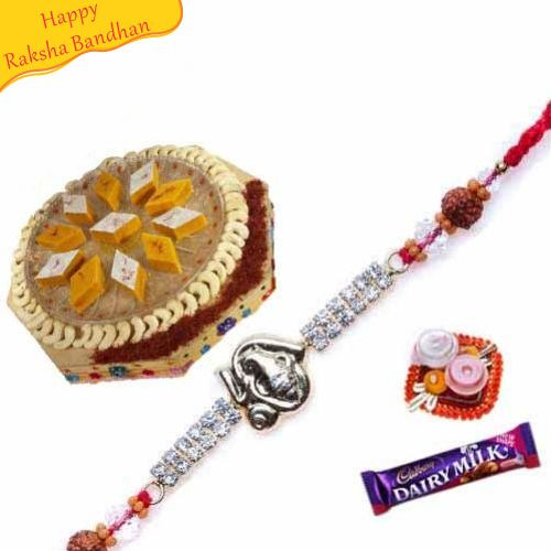 Buy Kesar Katali With Rakhi Online On Rakshabandhan With