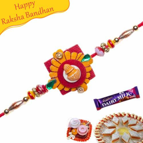 Buy Kalash Multicolour Beads Mauli Rakhi Online On