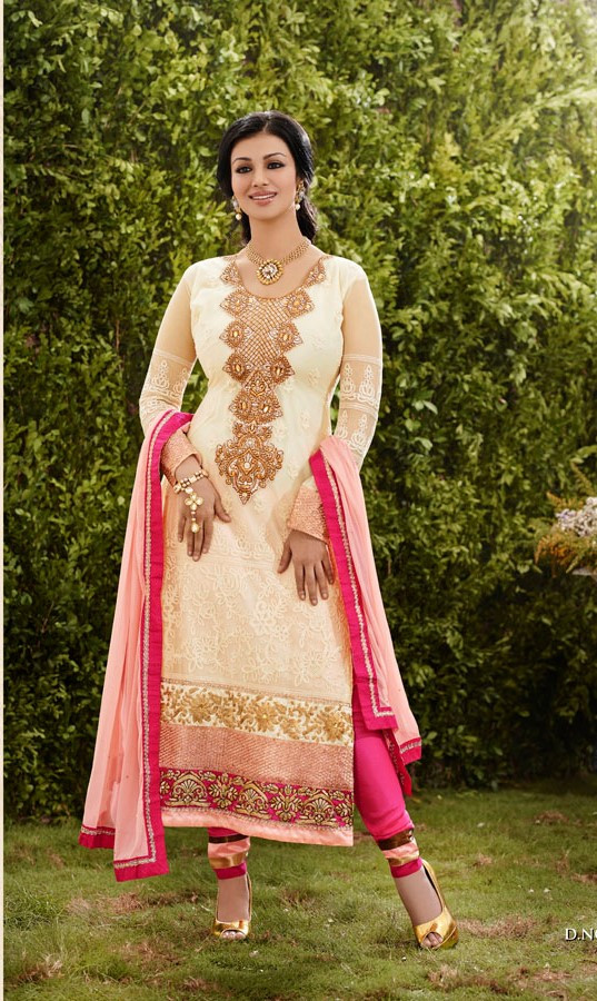 Light Tassar Party Wear Long Suits