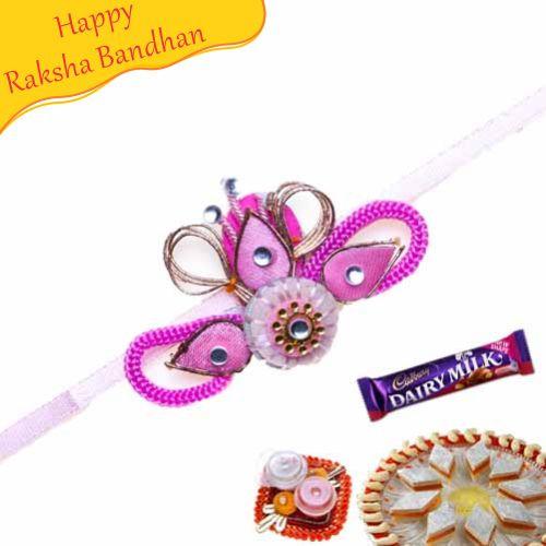 Buy Flower Shape Thread Rakhi Online On Rakshabandhan With
