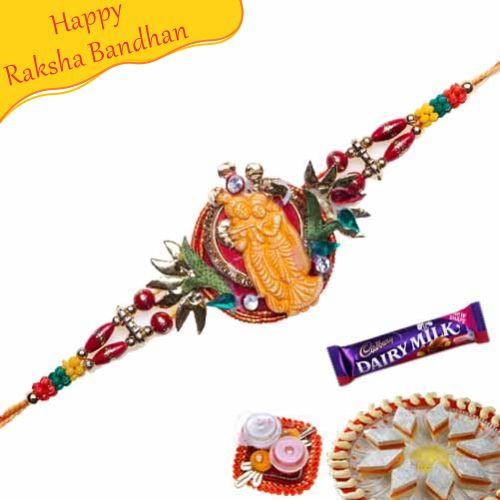 Buy Radhe Krishna Sandlewood Rakhi Online On Rakshabandhan