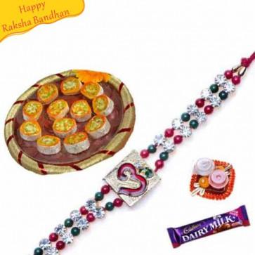 Buy Indradelite with Rakhi Online on Rakshabandhan with India, worldwide delivery options