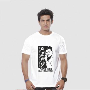 Aazad Hoon Tshirt Ring Spun Tshirt From Deshidukan Buy online