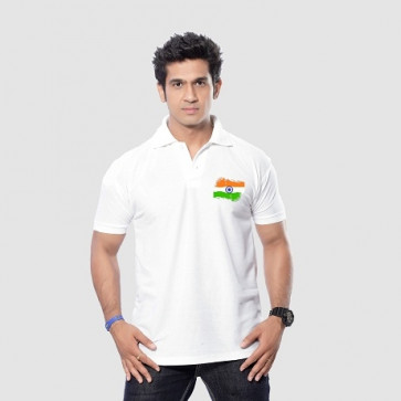 Coller Tshirt With Indian Flag