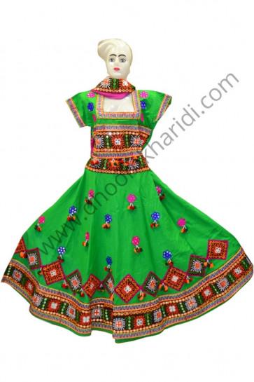 Amazing Green Colour Chaniya Choli for Navratri 2017 buy online