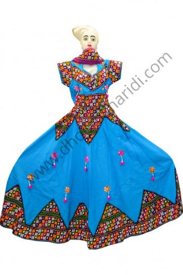 Exclusive Sky Blue Cotton Chaniya Choli for Navratri 2017 buy online