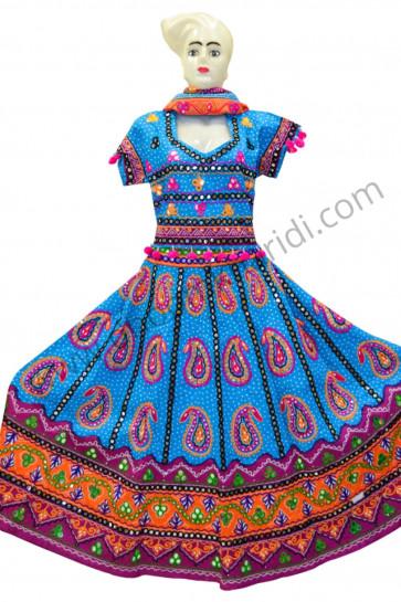 Amazin Bandhej Blue Colour Chaniya Choli for navratri 2017 buy online
