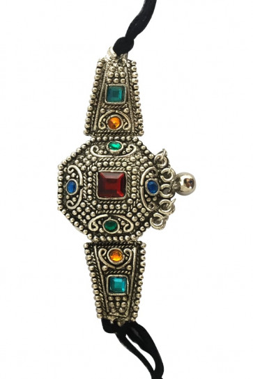 Buy Oxidized Bajubandh with Multicolor Pearl For Navratri Online for India & International Delivery, Cash On Delivery available for selected locations