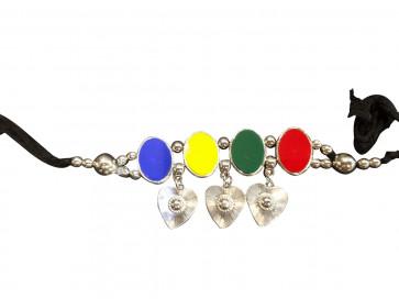 Buy Oxodized Multicolor Bajubandh (Small Size) Online For Navratri