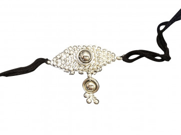 Buy Oxodized Small Bajubandh With Ghooghri Pendant Online For Navratri