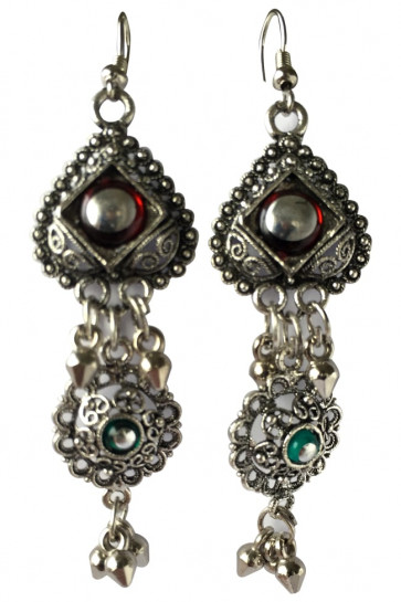 Buy Multicolor Long Oxidized Joomkha Earing For Navratri Online for India & International Delivery, Cash On Delivery available for selected locations