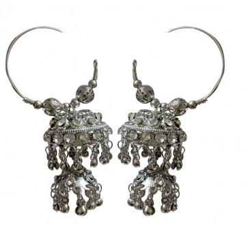 Oxodized Big Traditional Earings (Fashion)