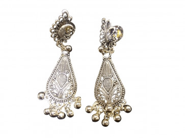 Buy Long Oxodized Earing with Ghooghri Online For Navratri
