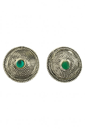Buy Earing Oxidized Top with Green Pearl For Navratri Online for India & International Delivery, Cash On Delivery available for selected locations