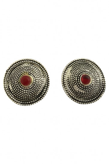 Buy Earing Oxidized Top with Red Pearl For Navratri Online for India & International Delivery, Cash On Delivery available for selected locations