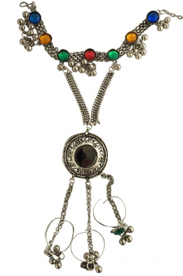 Buy Oxidized Multicolor Panja (Big Size) For Navratri Online for India & International Delivery, Cash On Delivery available for selected locations
