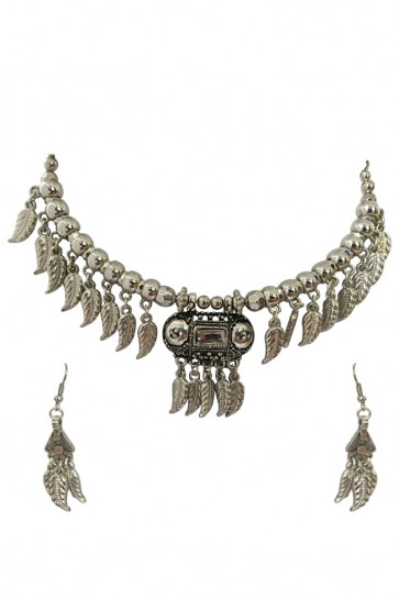 Buy Oxidized Hansadi Set For Navratri Online for India & International Delivery, Cash On Delivery available for selected locations