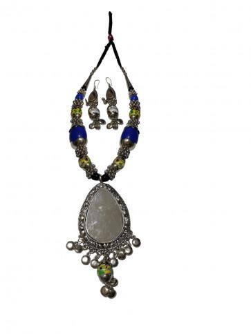Buy Elegant Oxodized Long Set - Western Style Online For Navratri