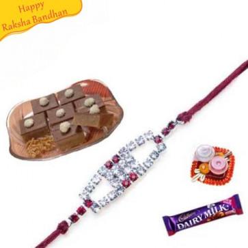 Buy Akharot Bite with rakhi Online on Rakshabandhan with India, worldwide delivery options