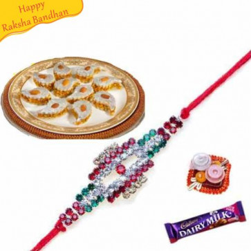 Buy Dryfruit Cake with rakhi Online on Rakshabandhan with India, worldwide delivery options